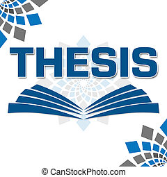 Thesis Text With Book Symbol - Thesis text with book shape...