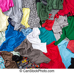 Bright messy colorful clothing