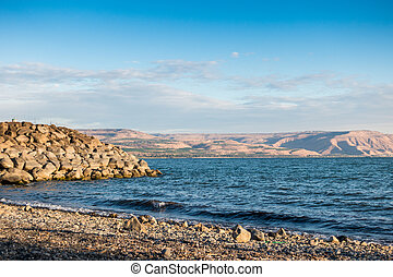 Sea of Galilee taken from north part near Capernaum, Israel