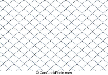 Texture the old cage metal net isolate on white background...