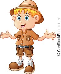 boy explorer cartoon