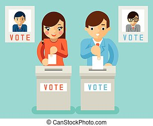 People vote for candidates of different parties - People...