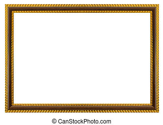 Antique frame isolated on the white background.