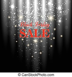 Black Friday - Black friday big sale shining background....