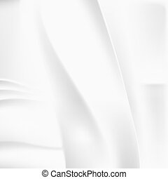 Creased white cloth material vector template - Creased white...