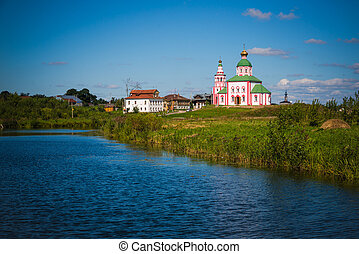 Christianity church of St. Elias - Russia. Suzdal. View of...
