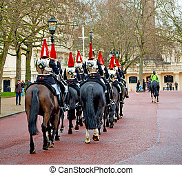 for the queen in london england horse and cavalry - in...