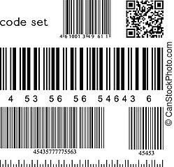 vector barcode set - Barcode collection for your design....