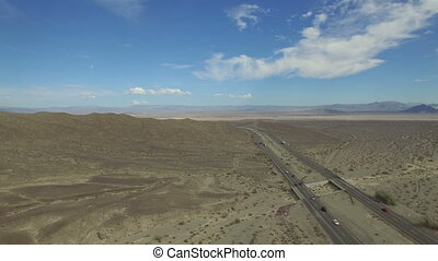 Video of desert road - Video of a desert road and blue sky...