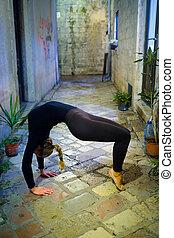 training gymnast - The image of training gymnast