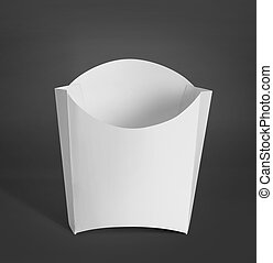 white Package Box for french fries food products - white...