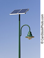 Solar energy - Street lamp poles powered by solar energy