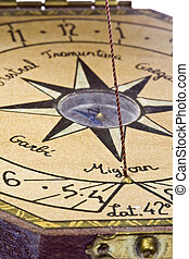 Compass - Detail of a navigation bar showing the compass