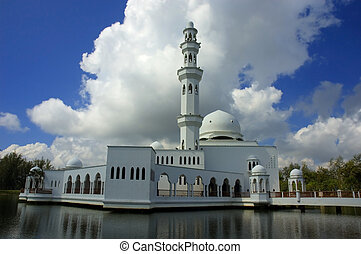 mosque on a lake