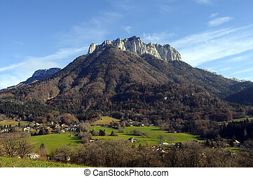 Forclaz mountain near Annecy, France - AutumnLandscape of...