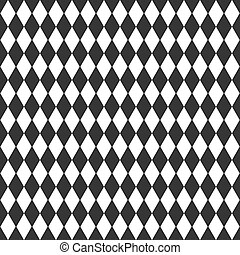 Vector background with black and white rhombus
