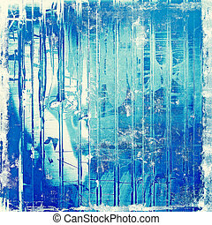 Vintage antique textured background. With different color patterns: blue; cyan; white
