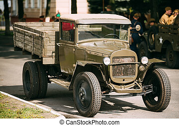 Russian soviet army military truck ZIS-5 outdoor