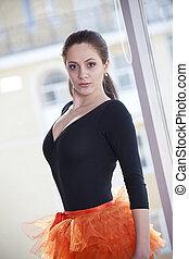 Ballerina in body and skirt