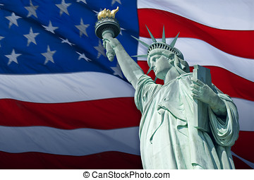 Statue of Liberty - The Statue of Liberty Enlightening the...