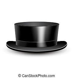 Illustration black cylinder hat - Illustration black...