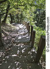 Foot path to Bled Castle, Slovenia