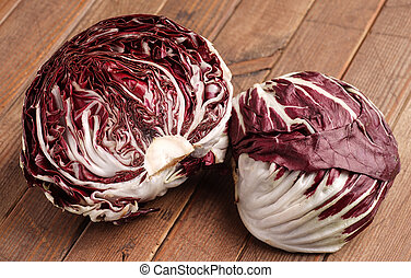 Fresh organic Radicchio Lettuce, ready for eating and...
