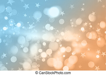 Retro styled Christmas background with bokeh lights and...
