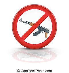Sign with gun and symbol Stop terrorism Vector illustration...