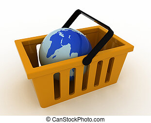 3d of World commerce, checkout icon