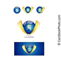 Letter s sphere 3d logo
