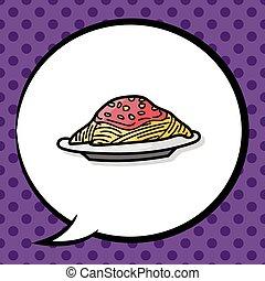 Spaghetti doodle