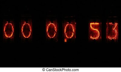 Digital clock countdown - orange numbers