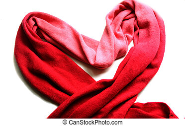 red scarf isolated over white background
