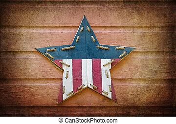 Retro USA star