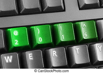 2016 written with green keyboard buttons