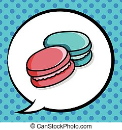 Macaron doodle