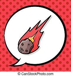 Meteorite doodle