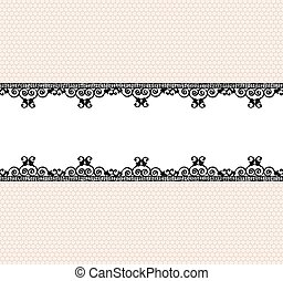 Lace border - Vintage lace border with space for your text...