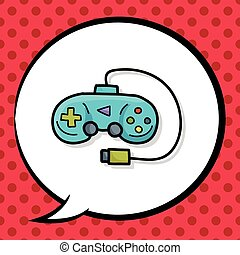 game console doodle