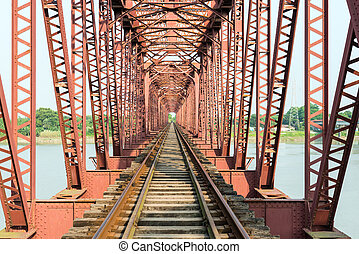 Hardinge Bridge - Paksey, Bangladesh - September 28, 2015:...