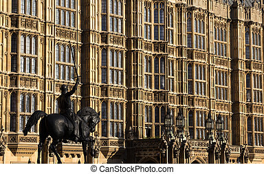 Westminster Houses of Parliment Building close up