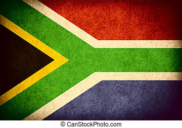 flag of South Africa or banner on paper rough pattern...