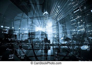 futurism - the abstract background about...