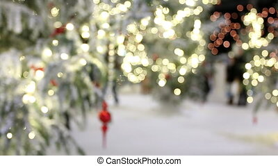 Christmas background,blurred people - Christmas abstract...