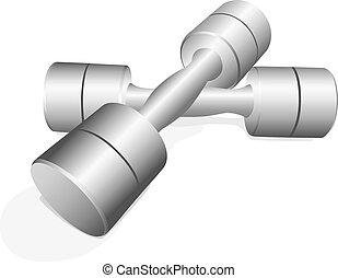 dumbbell - a pair of dumbbell modern shape dumbbell, the...