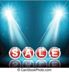 Sale Abstract disco background