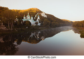 Svyatogorsk Lavra on the banks of the Seversky Donets