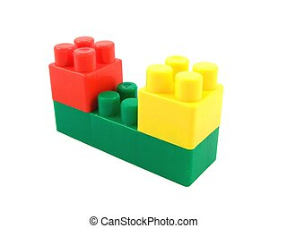 Ziegelsteine, spielzeug, Plastik