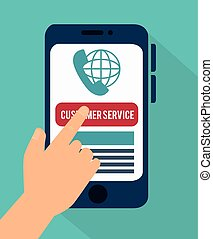 Customer service and technical support graphic design,...